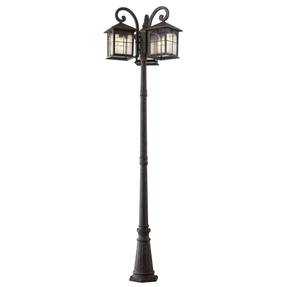 Home Decorators Collection Brimfield 3 Head Outdoor Aged Iron Post Light Hb7019a 292 At The Depot