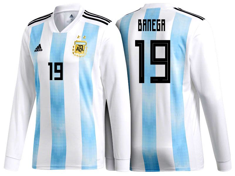 f06aaa5f184 ... ireland 2018 argentina football shirt ever banega world cup ls home soccer  jersey 57c07 ec80e