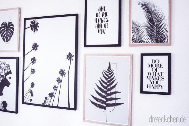 Wohnzimmer inspiration neue botanical gallery wall in schwarz wei werbung wall deco - Bilderwand skandinavisch ...