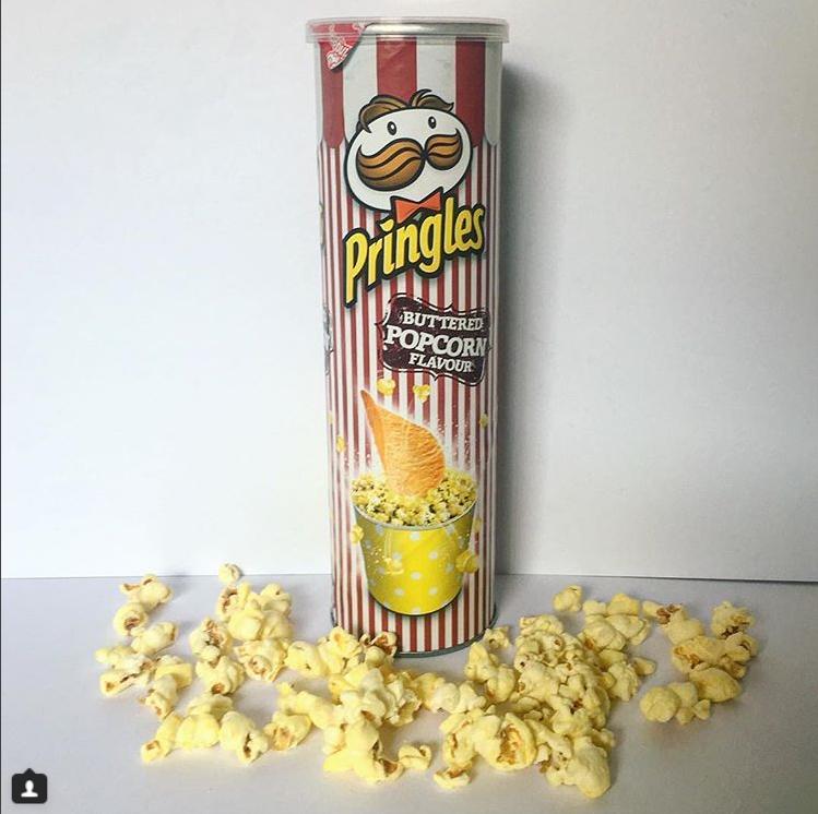 Pringles Buttered Popcorn Flavor Australia Pringle Flavors Weird Food Junk Food Snacks