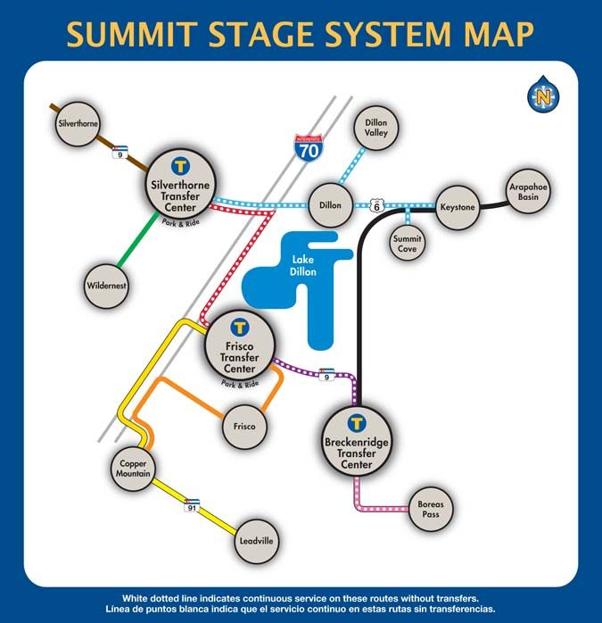 Summit Stage System Route Map - Free Bus in CO