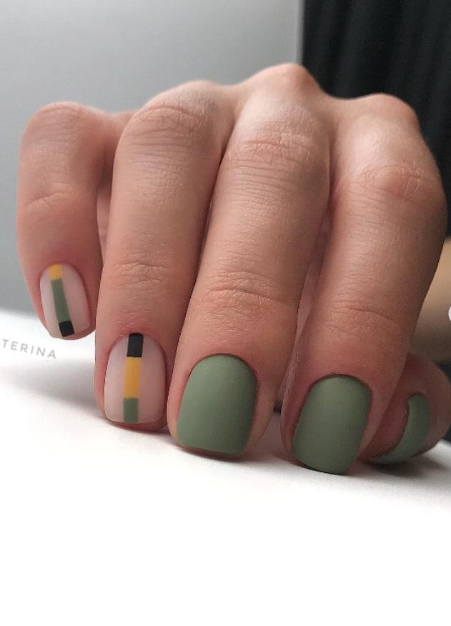 110 Best Natural Short Square Nails Design For Fall Short Square Nails Square Nail Designs Fall Nail Designs