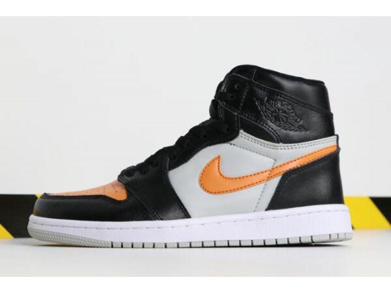 Air Jordan 1 High Og Black Grey Orange 555080 080 For