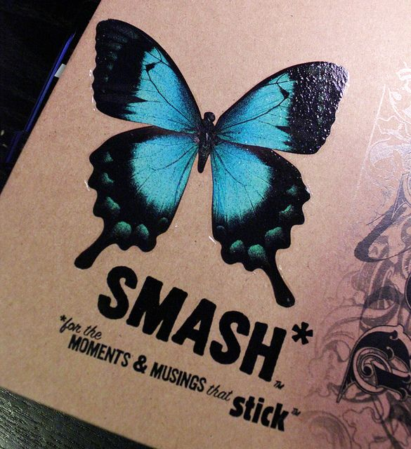 Leah's Blue #SMASH* Folio Back Cover (Butterfly Rub-On Transfer)