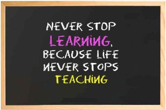 never stop learning because life never stops teaching education