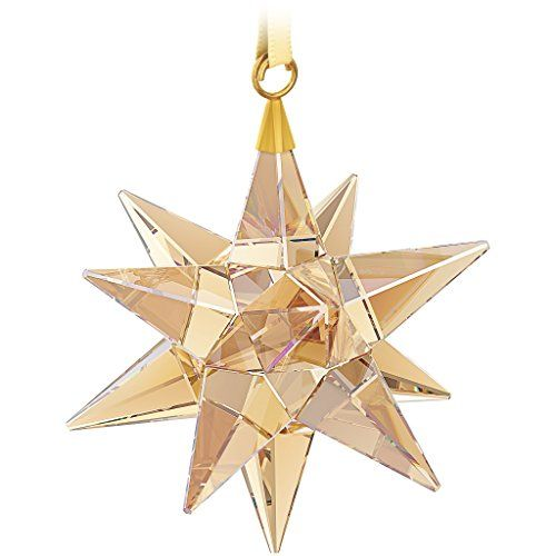 Swarovski 3d Star Ornament Clear Golden Shadow Star Ornament