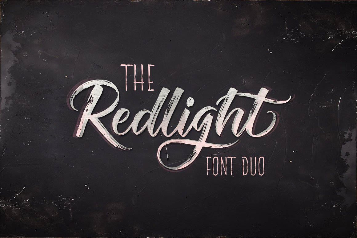 Redlight Script Free Font Duo Script Fonts Lettering Brush Font