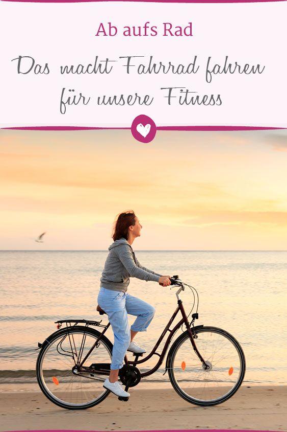 Das macht Fahrrad fahren für unsere Fitness - Fahrrad..