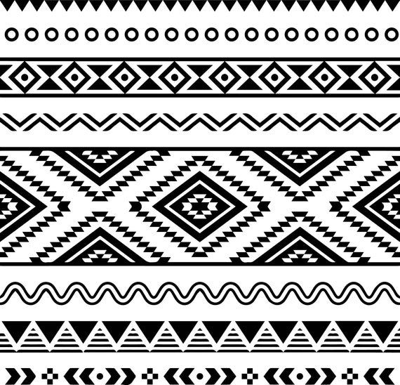 Aztec Geometric Pattern Art Traditional Tribal Ornament Decoration Svg Eps Png Vector Space Clipa Geometric Pattern Art Mexican Pattern Pattern Art