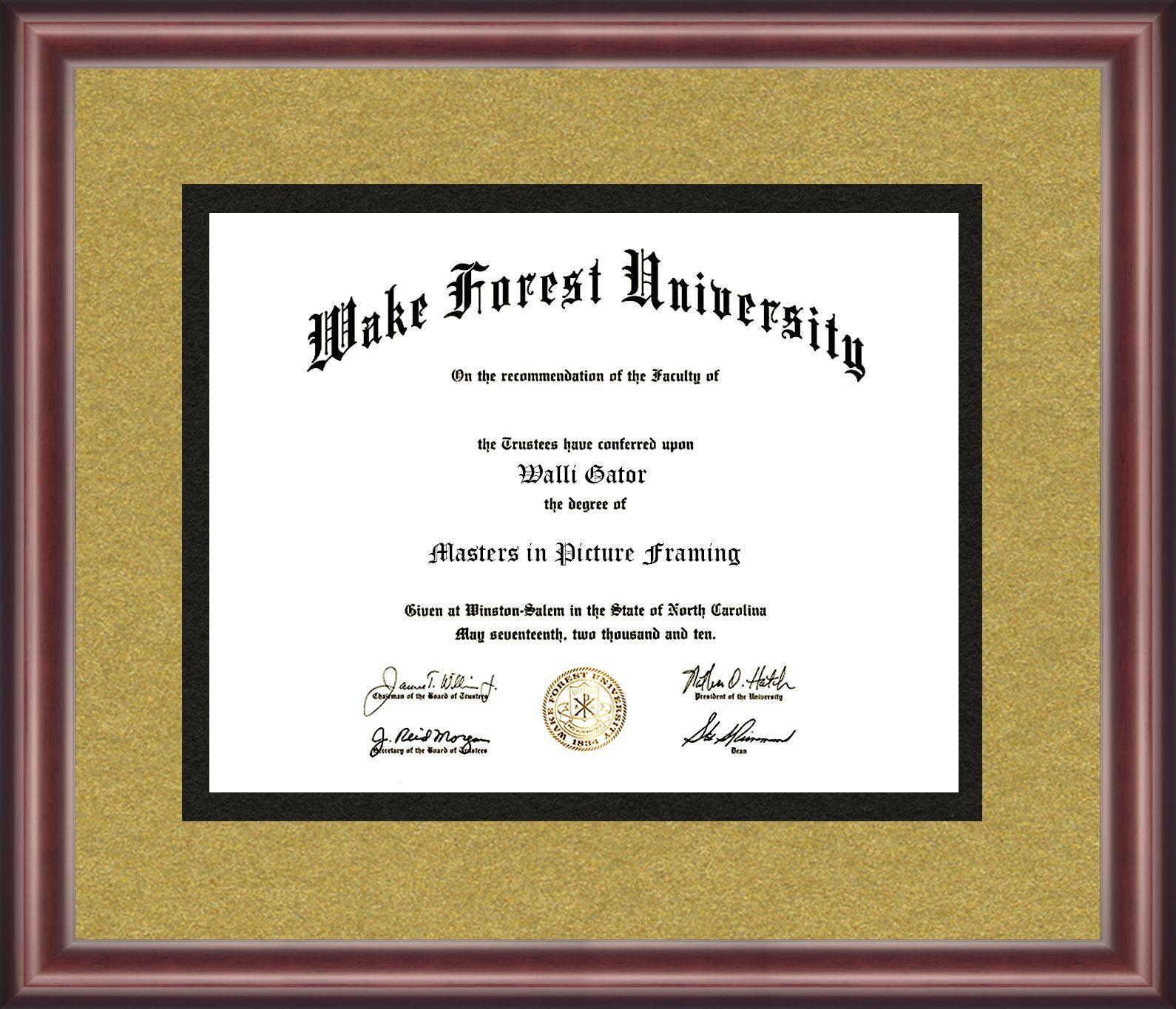 Wake Forest University Diploma Frame | Diploma Frames | Pinterest ...