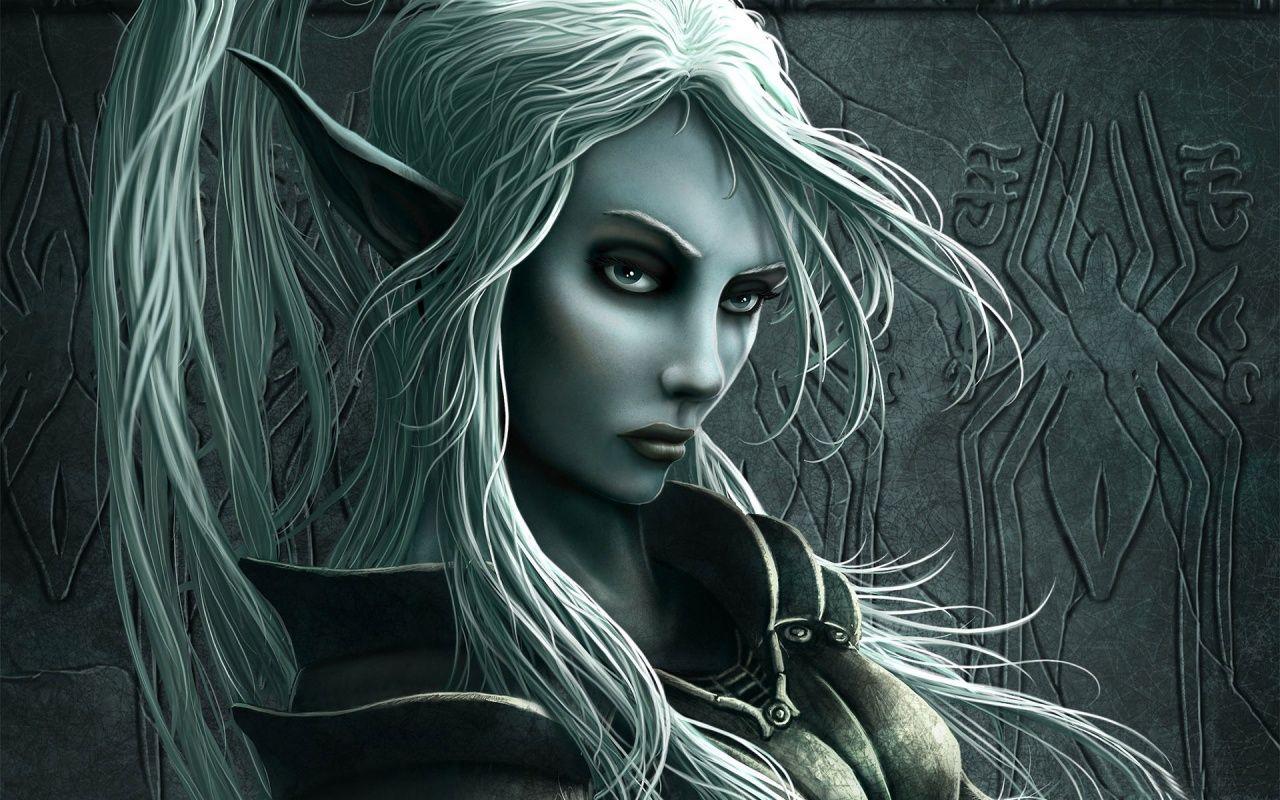 Fantasy Wallpaper Elf Woman Elves Fantasy Dark Elf Elf Art