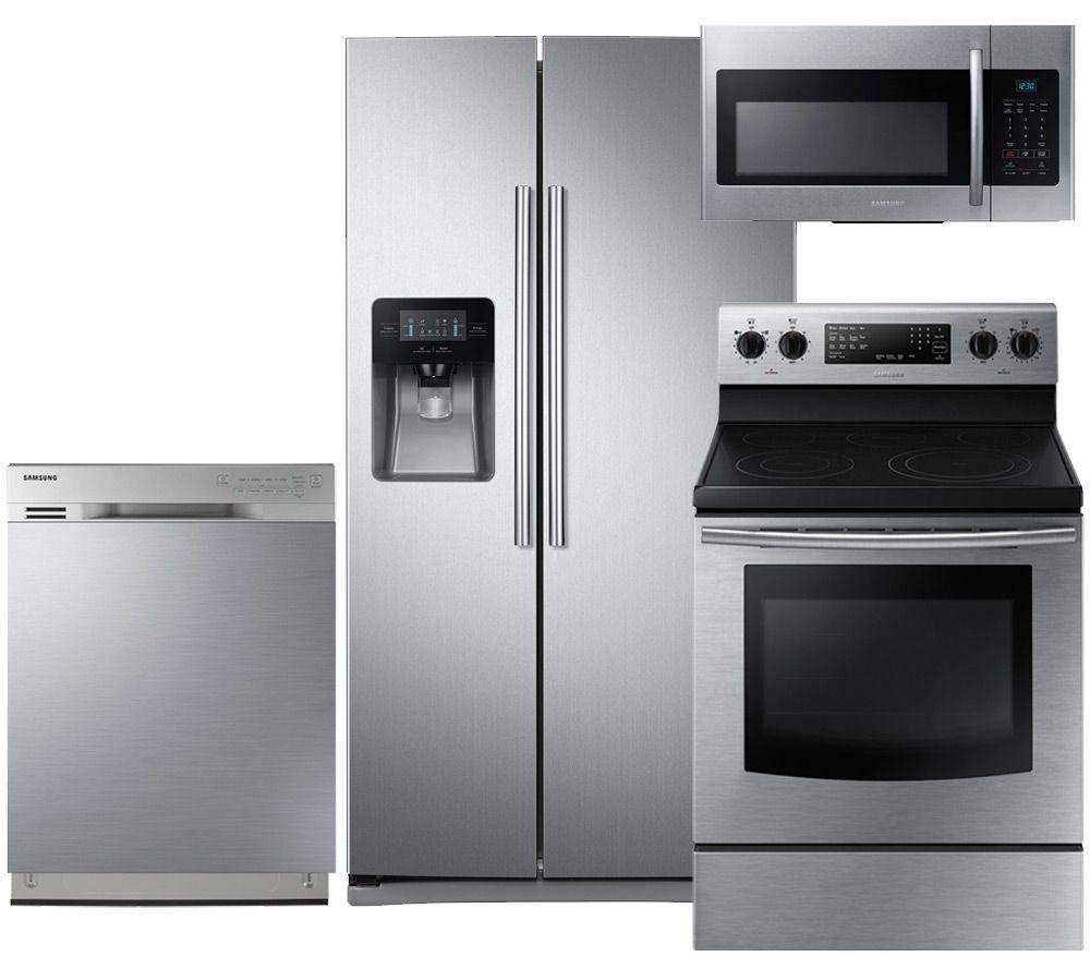 Samsung SAM4PCFSSBS30EFCSSKIT2 4-Piece Stainless Steel Kitchen ...