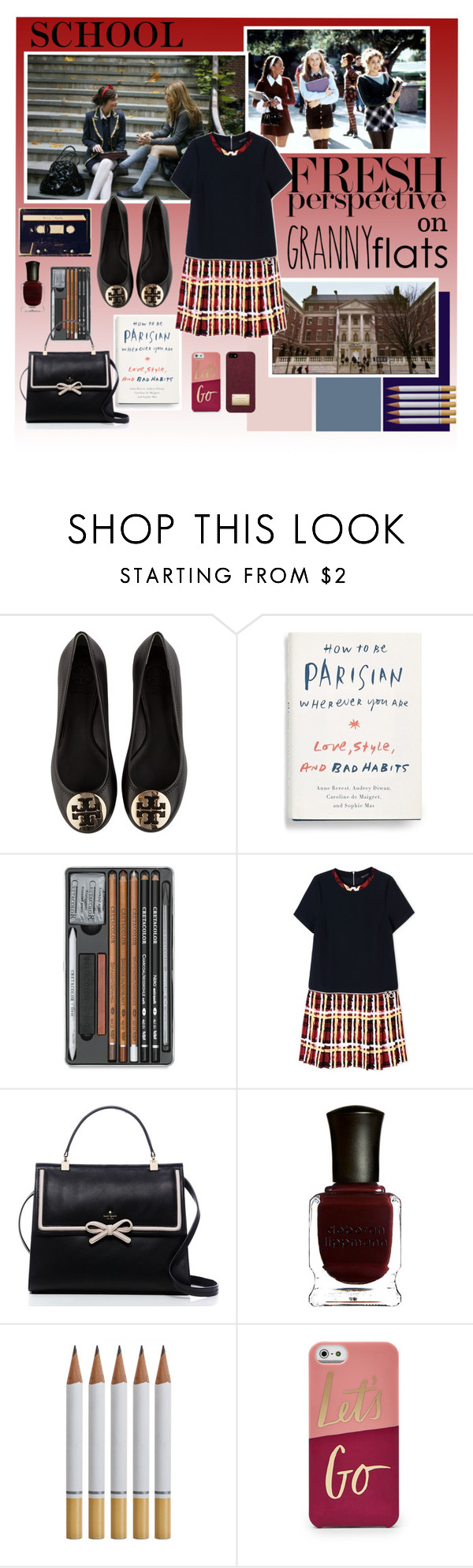 """Schooling You on Flats!"" by firerose800 ❤ liked on Polyvore featuring Tory Burch, Marc by Marc Jacobs, Kate Spade, Deborah Lippmann, Michael Kors, women's clothing, women's fashion, women, female and woman"