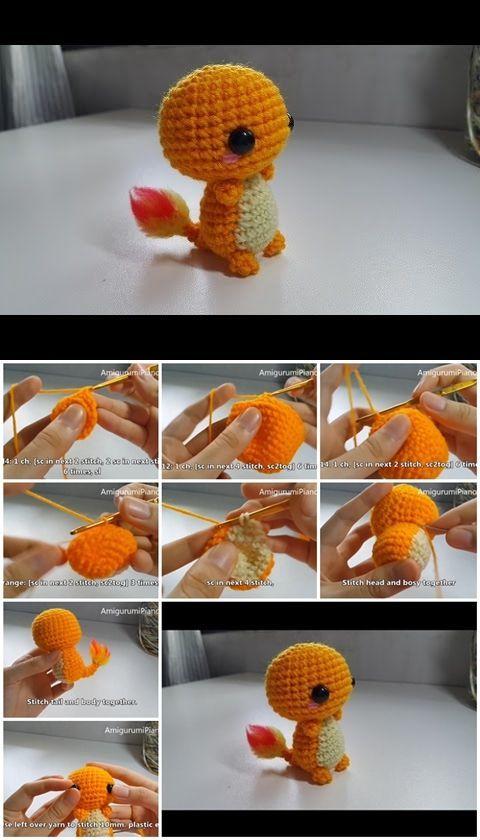 How to Make Amigurumi Crochet Charmander   crochets   Pinterest ...