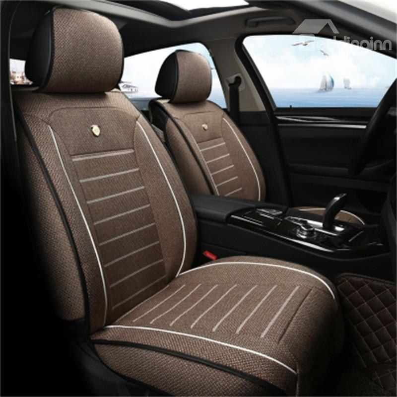 Refreshing Linen Durable Cost Efficient Single Seat Universal Car