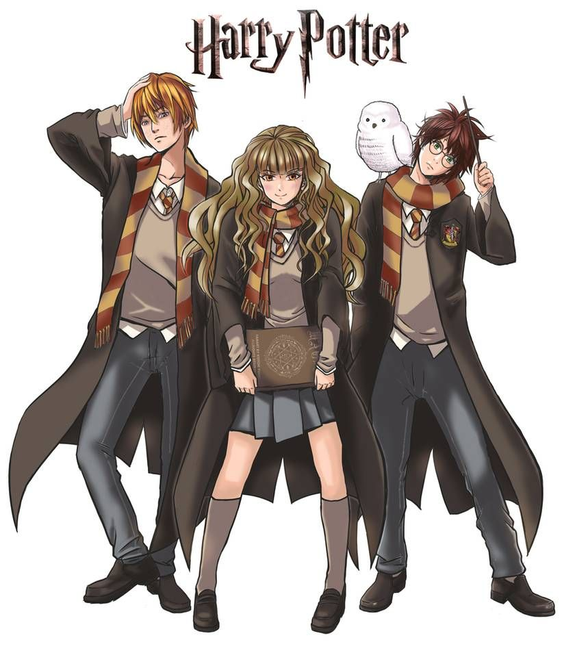 Harry Potter Anime Version By Jokochimaru On Deviantart Harry Potter Anime Harry Potter Cartoon Harry Potter Illustrations