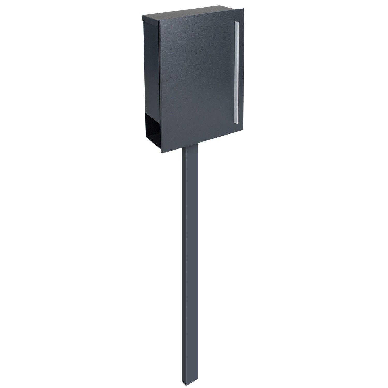 Standbriefkasten Anthrazit design standbriefkasten zeitungsfach anthrazitgrau ral 7016
