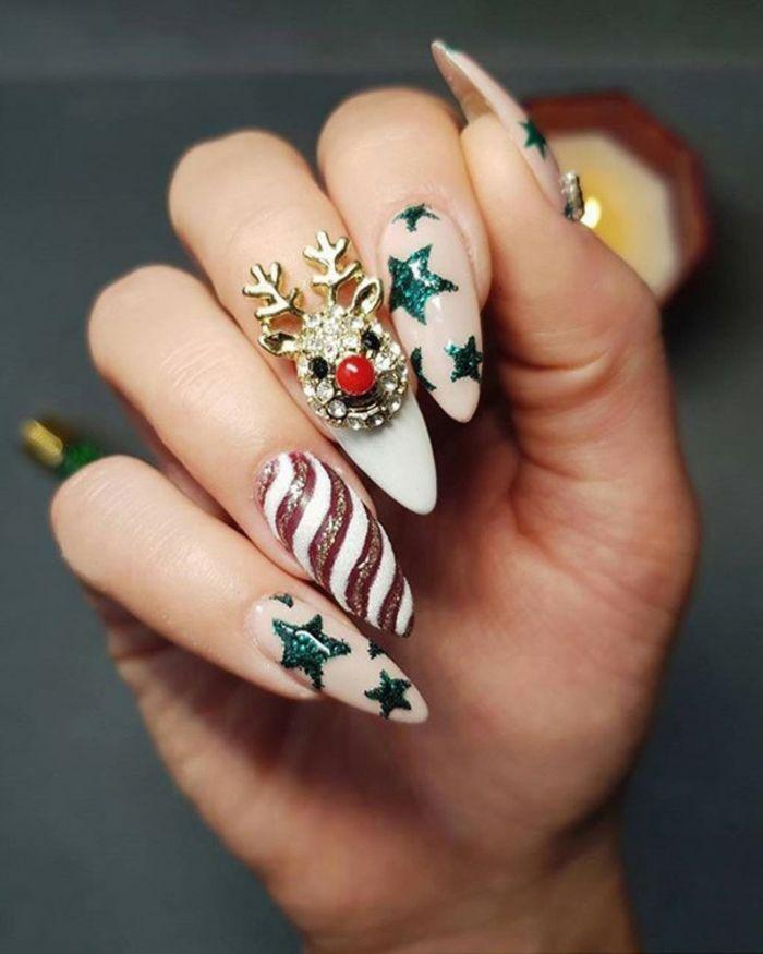 ▷ 1001 + ideas de bonitos y elegantes diseños de uñas navideñas