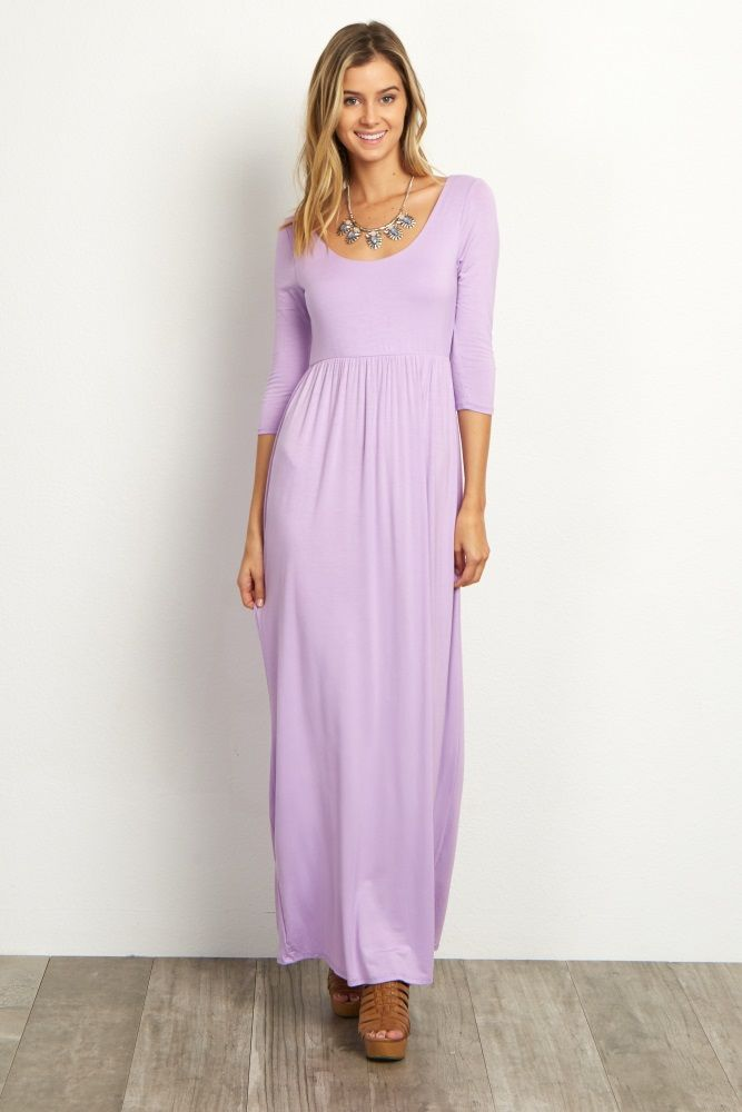 Lavender 3 4 Sleeve Maxi Dress For Me Pinterest Dresses Maxi