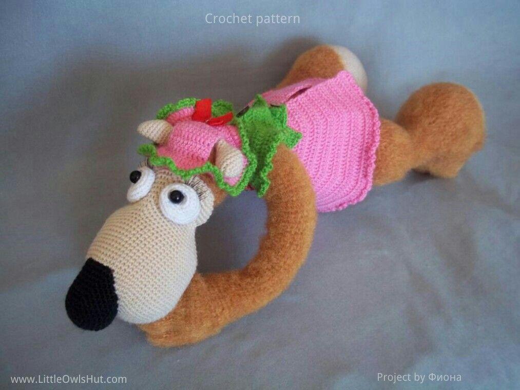 Project by Фиона. Teddy Bear Potapchik with pyjamas.crochet pattern by Astashova for LittleOwlsHut #LittleOwlsHut, #Bear, #Astashova, #Amigurumi, #CrochetPattern, #DIY, #BearPotapchik