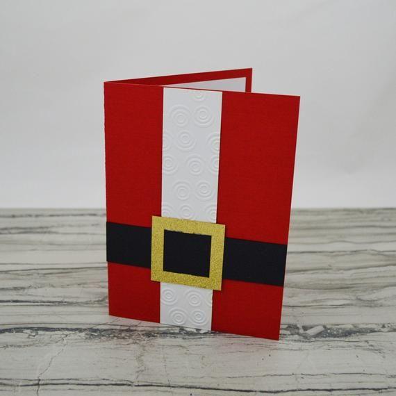 Santa Suit Christmas Card - Merry Christmas Greeti