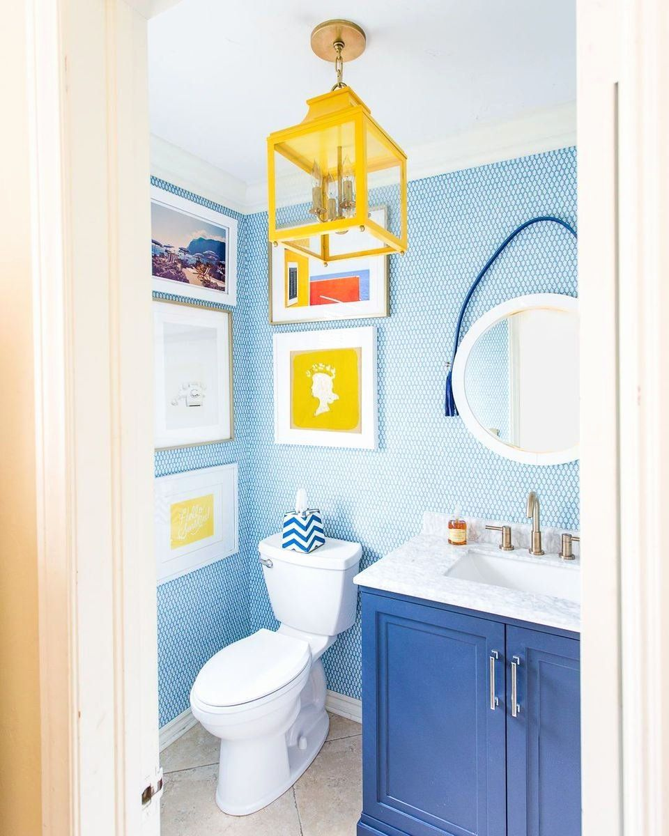 Best Blue And Yellow Bathroom Decor
