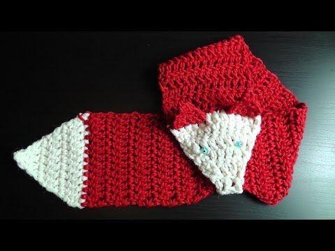Cómo tejer bufandas de zorro / Tutoriales | Crochet y Dos agujas ...