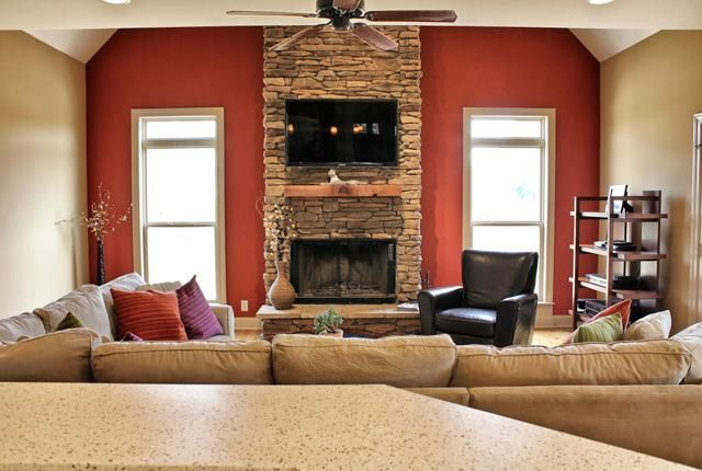 Love That Fire Place 2 Story Stacked Stone Fireplace Wood