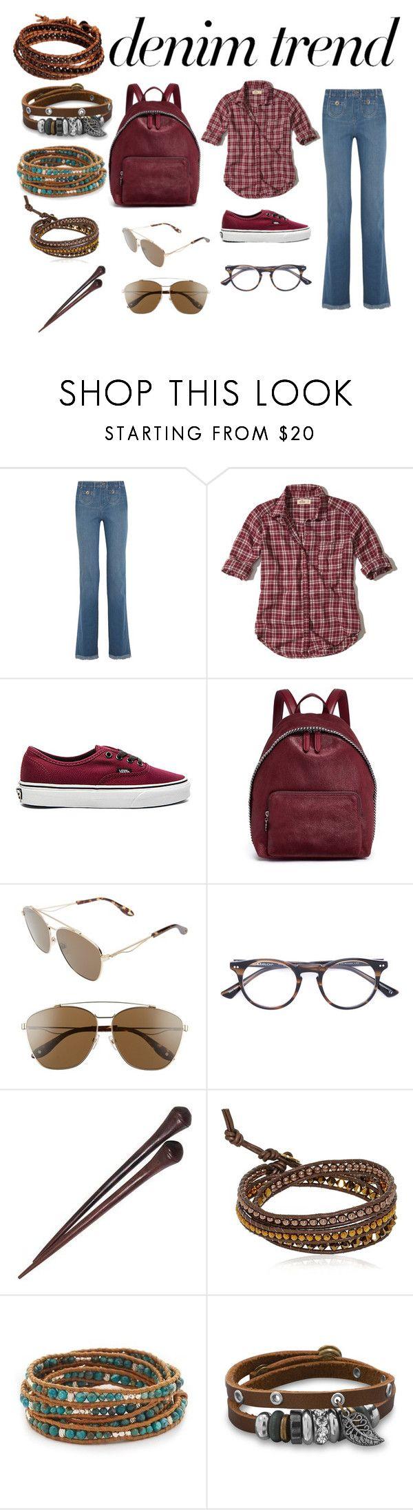 """wide leg jeans"" by sveta93 on Polyvore featuring moda, Chloé, Hollister Co., Vans, STELLA McCARTNEY, Givenchy, Sol-Amor, NOVICA, Colana e Chan Luu"
