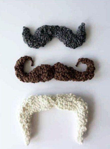 Crochet Mustache (Free Pattern) | Pinterest | Häkeln, Gehäkelte ...