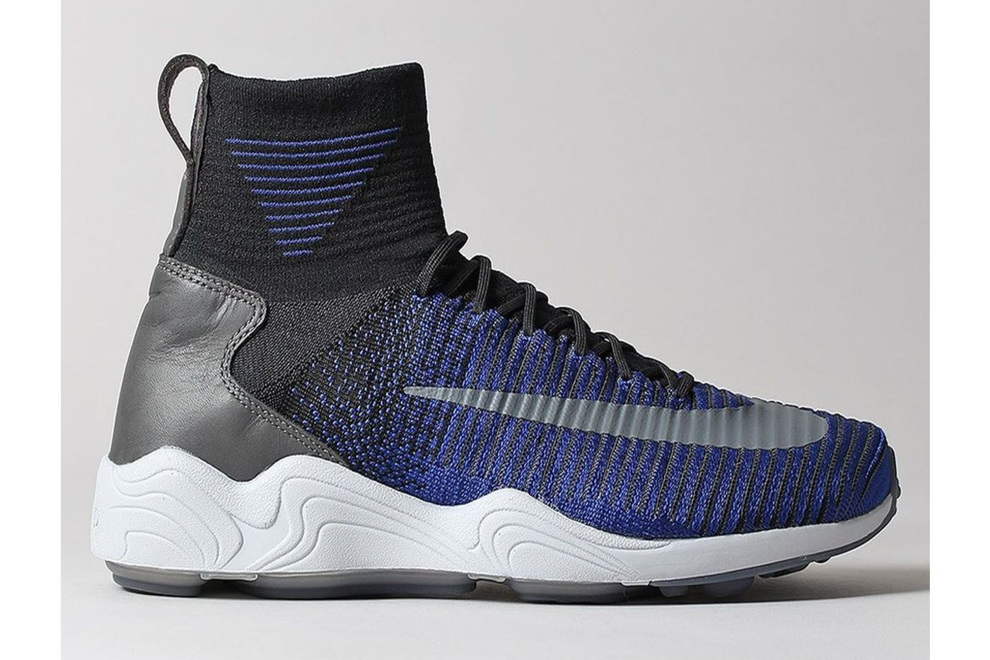 Check out the street-ready version of perhaps the Swoosh's most famous  soccer shoe, the Nike Zoom Mercurial Flyknit, in Royal/ Platinum. Soccer  Shoes ...