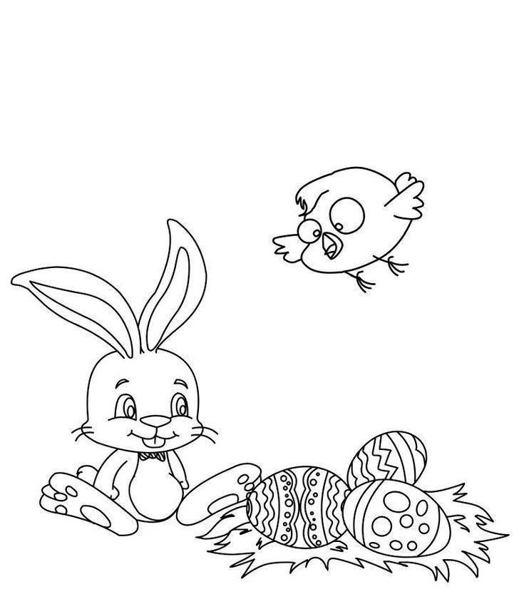 Free, Printable Easter Bunny Coloring Pages | Kids ...