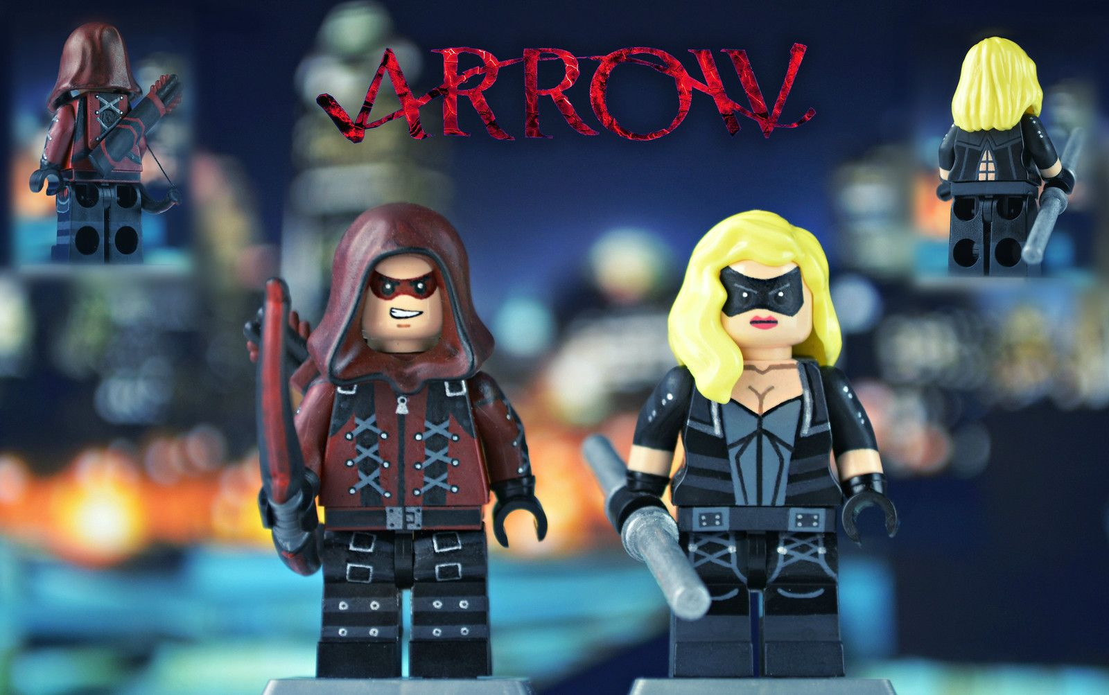 New Minifigure Custom Lego Black Canary New Version Character DC Comics Movie