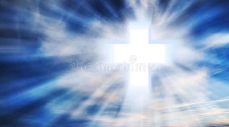 Christian Cross On The Sky Bright Christian Cross In The Sky With Light Rays C Ad Sky Bright Christian Christian Cross Heavenly Father Light Rays