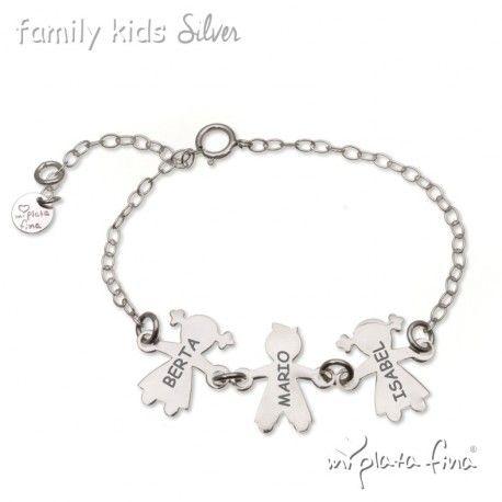 8bb0f10a56e4 Diseño de pulsera plata con cierre y cadena de eslabones de niña