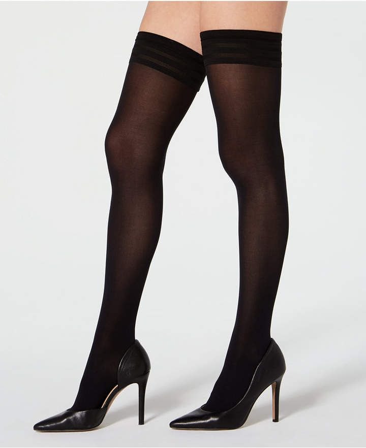 6a524424121 Wolford Velvet De Luxe 50 Stay-Up Thigh-High Hosiery - Black in 2019 ...