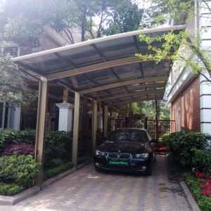 Luxury 2 Cars Carport For Sale Aluminum Alloy Frame And Poly