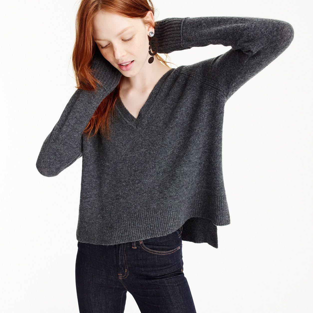 J.Crew Womens V-Neck Sweater In Supersoft Yarn (Size XXXS)  dfd6570398