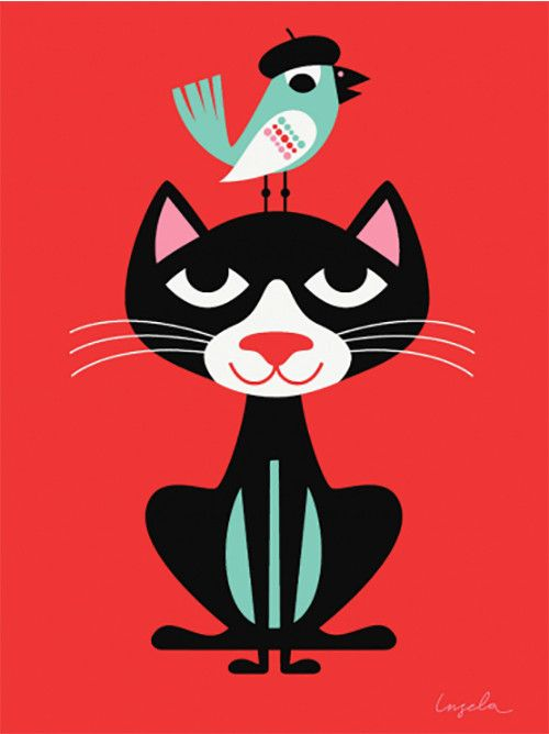 - Description - More Info. - The Brand Add color and sweetness to the room with this charming retro-inspired poster by Swedish illustrator Ingela Arrhenius for OMM Design. This playful poster is a fav