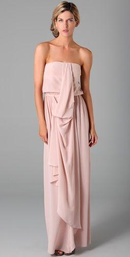 7f6cf6c6632eb Strapless Draped Maxi Dress | Dresses | Drape maxi dress, Womens ...