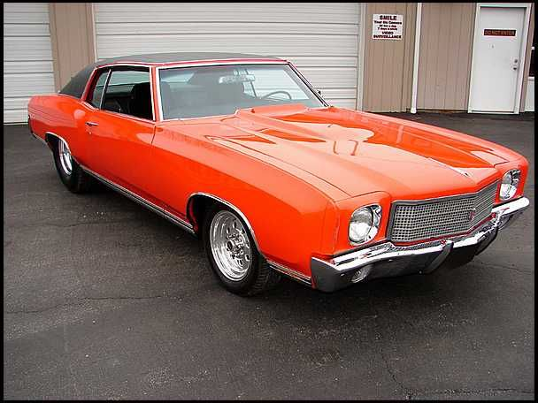 Hugger Orange Monte Carlo Ms Vintage Muscle Cars Chevrolet