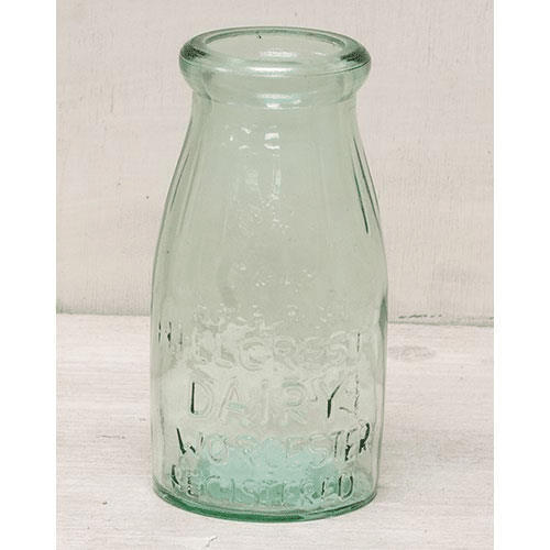 Green Glass Milk Bottle 5 1 2 Old Milk Bottles Milk Bottle Vases Old Glass Bottles