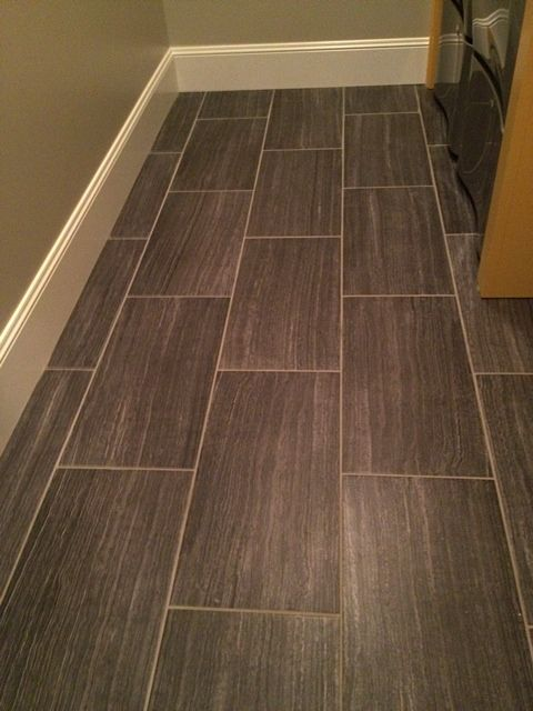 Charcoal 12x24 Floor Tile With Linen Finish In Brick Or Staggered