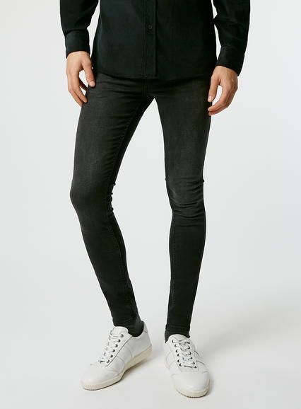 1d63f9546781 Washed Black Super Spray On Skinny Jeans