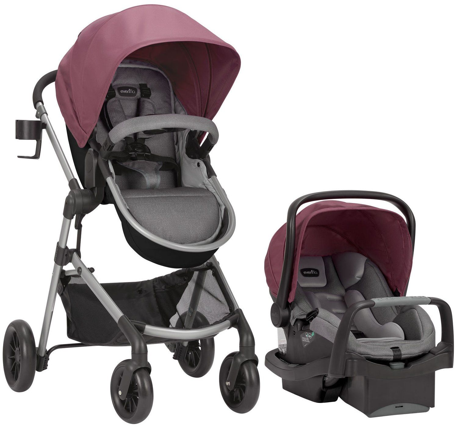 Maxi-cosi Adorra Travel System - Graphic Flower Evenflo Pivot Modular Travel System W Safemax Dusty Rose