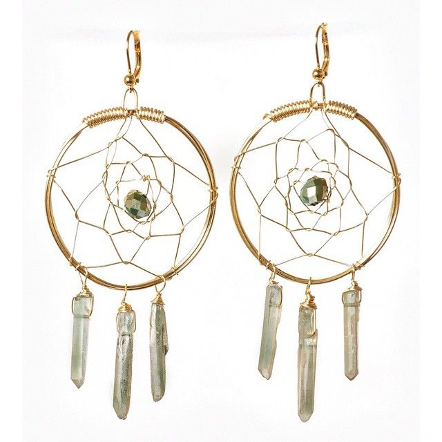 roryashton • Hand wired dream catcher earrings. Made with mystical ...