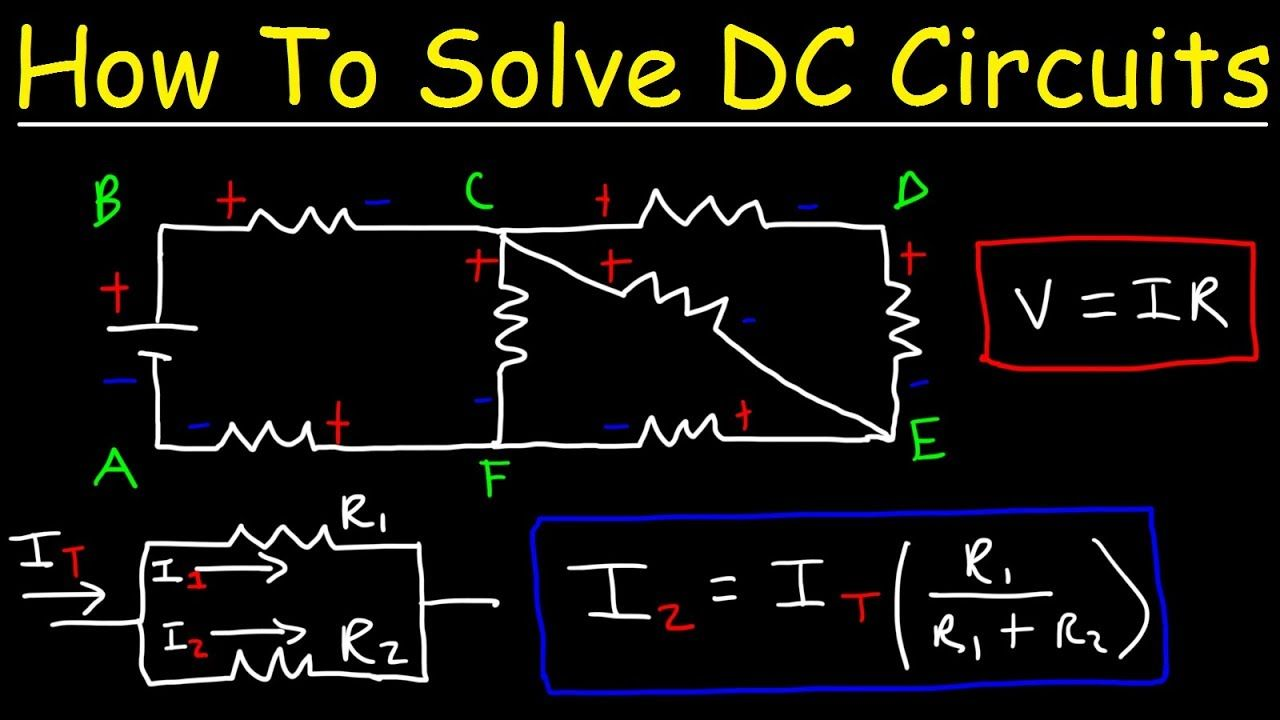 how to solve any resistors in series and parallel combination circuit pr  [ 1280 x 720 Pixel ]