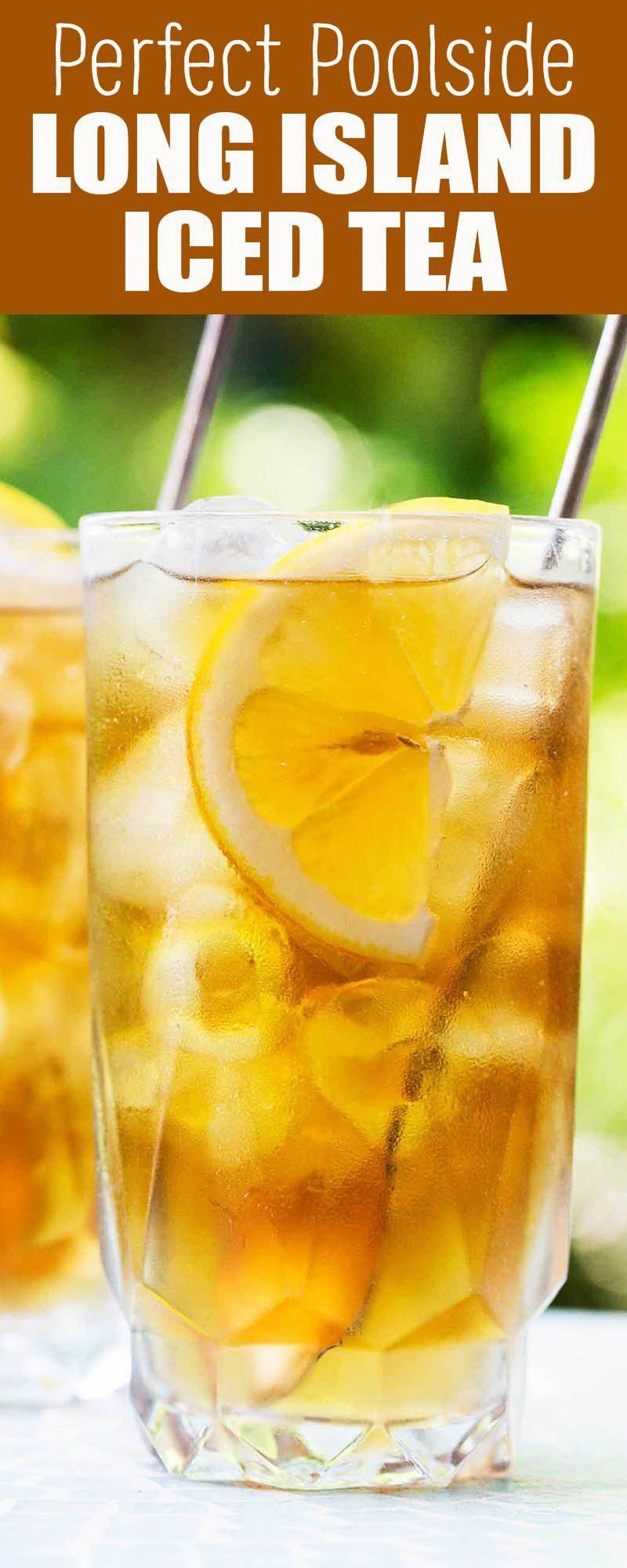 Long Island Iced Tea! Served in a pitcher, this is the ultimate party cocktail. Made with tequila, rum, vodka, gin, and triple sec. It packs a punch! #partycocktailrecipes