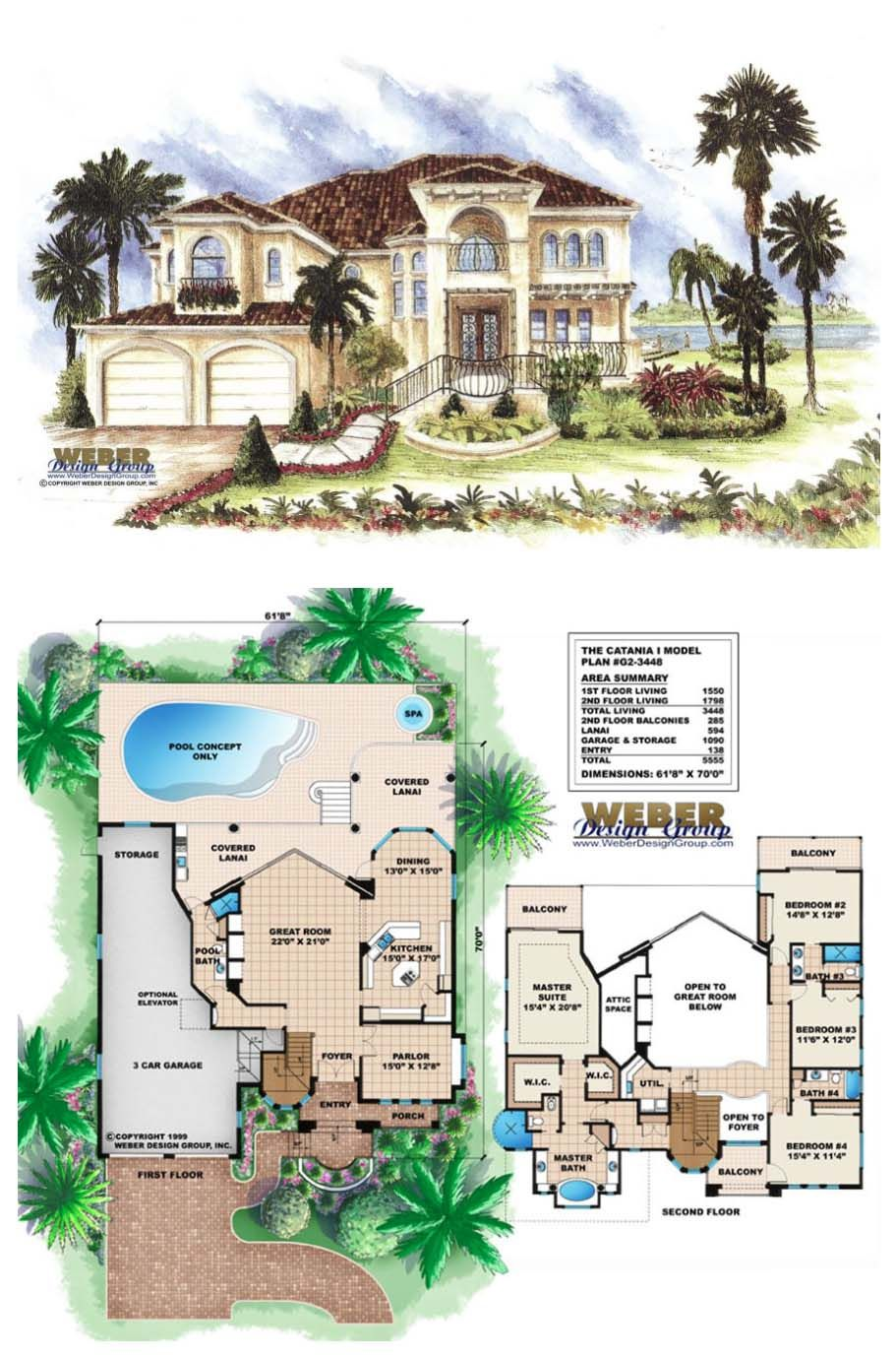 Mediterranean House Plan 2 Story Luxury Home Floor Plan With Pool Mediterranean House Plans Luxury House Plans Pool House Plans
