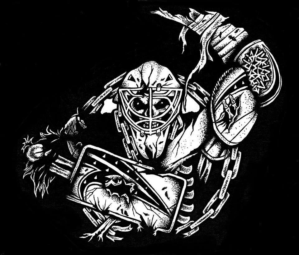 T shirt design vancouver wa - Hockey Goalie T Shirt New Gloves Mask Skull Stick Cage